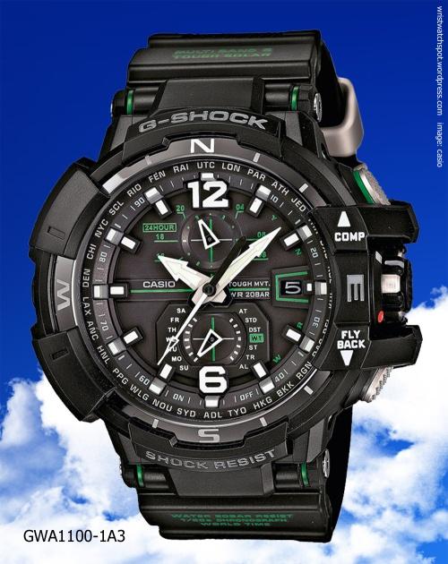 gwa1100-1a3 black green g-shock aviation sky cockpit 2014 watch roger vanwart tekubiquity