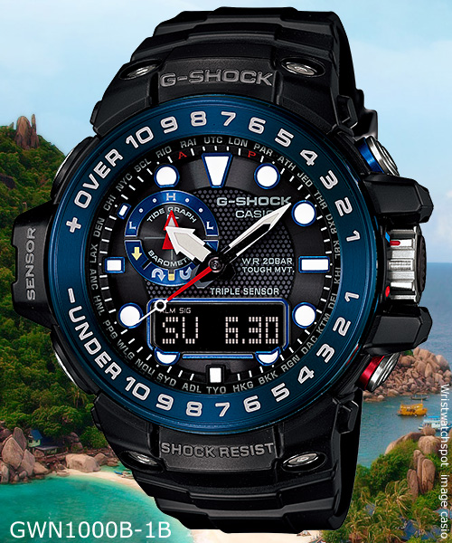 GWN-1000B-1B_g-shock black blue white watch