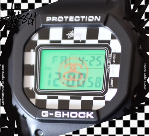 stussy x g-shock 2014 black checkered