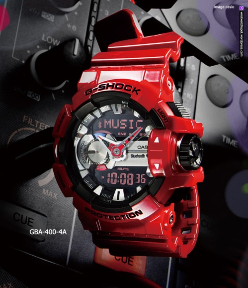 gba400-4a_g-shock_g'mix casio app 2014, close up of watch,