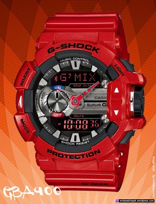 gba400-4a_g-shock_red-silver 2014 smart watch casio