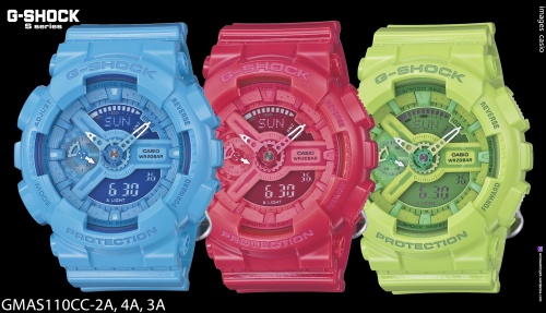g8900cs-3, g8900cs-8, ga100cs-7a, ga100cs-9a, ga110cs-4a, crazy colors, s series, g-shock watch, 2014, fashion, style GMA-S110, GMD-S6900