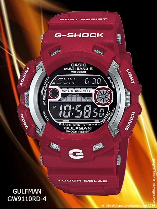 Gulfman GW9110RD-4 men in red rescue gwx5600c-4, ga100b-4.dw6900mf-4,ga100c-4, G7900A-4