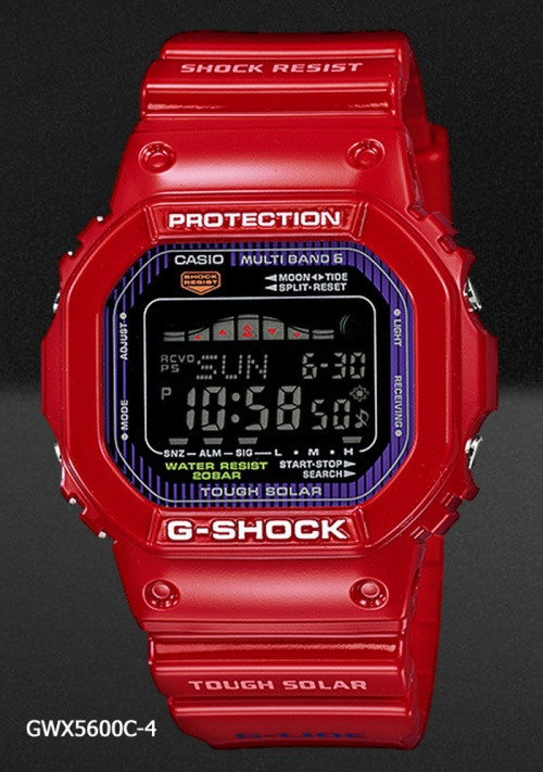 gwx5600c-4_red_g-shock watch timepiece classic square