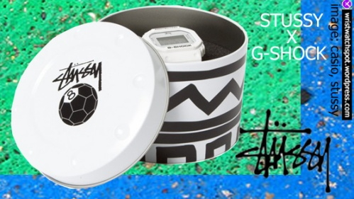 g-shock x stussy white watch special edition limited