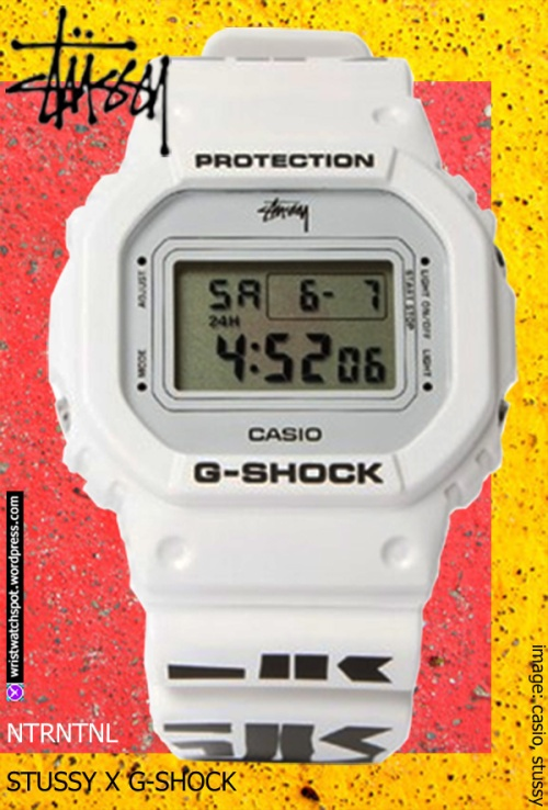 stussy special edition limited 2014 black and white watch dw5600