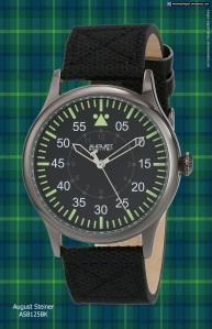 swiss watch black green august_steiner_as8125bk_201