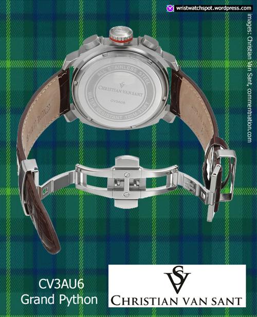 christian_van_sant_CV3AU6_2 sapphire quality chrono watch green leather