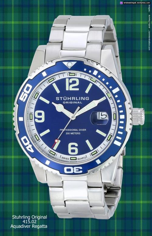 sturhling_original_415-02_Aquadiver regatta swiss watch blue silver bargain