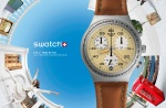 swatch switzerland swiss watch brushed earth ycs4053 irony chrono $160