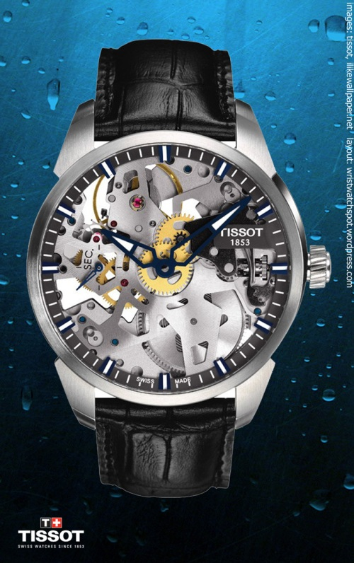 T0704051641100 t-complications squelette watch $1950, tissot swiss switzerland,  special limited edition