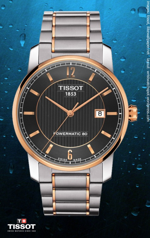 T0874075506700 titanium automatic rose gold $950 watch swiss switzerland