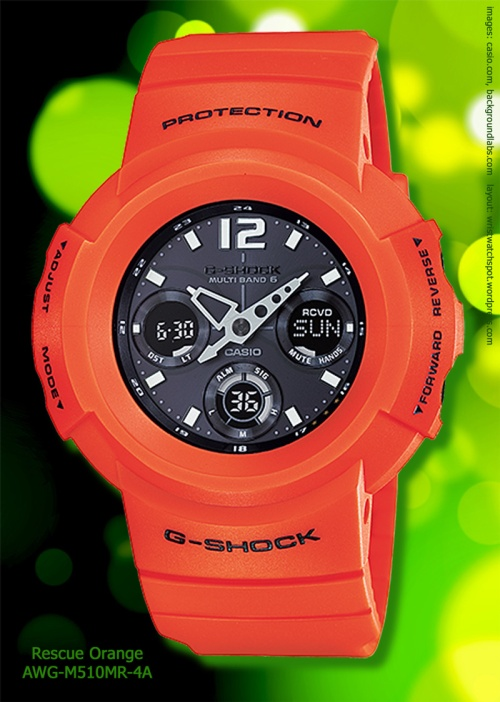 awg-m510mr-4a, g-shock watch rescue orange