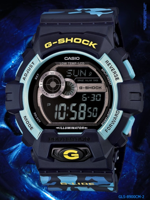 g-shock_gls-8900cm-2 g-lide blue watch sports fashion camouflage