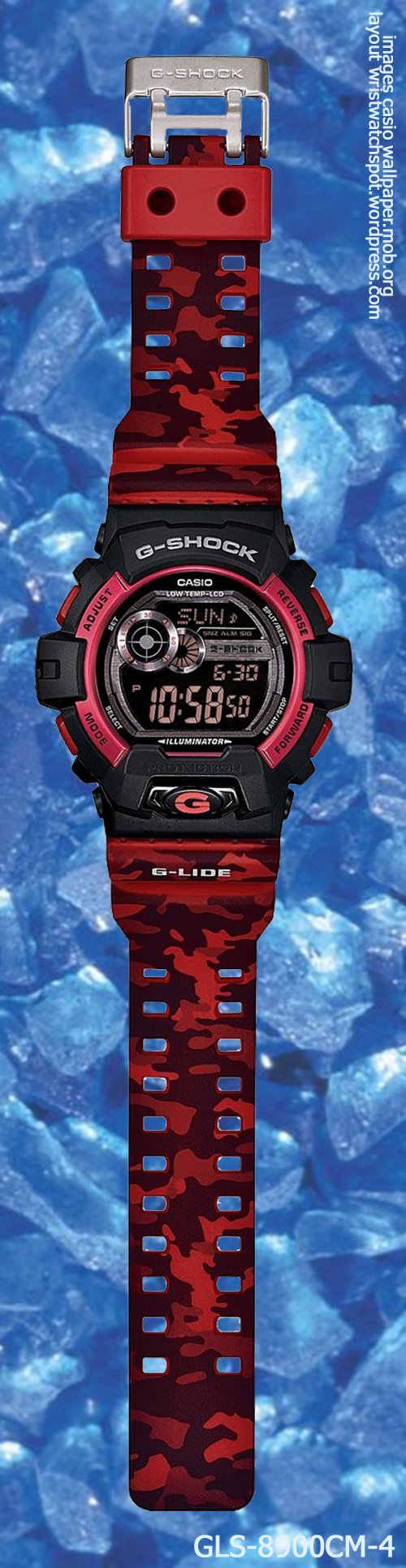 g-shock_gls-8900cm-4_front g-lide 2014 red watch gray digital sports