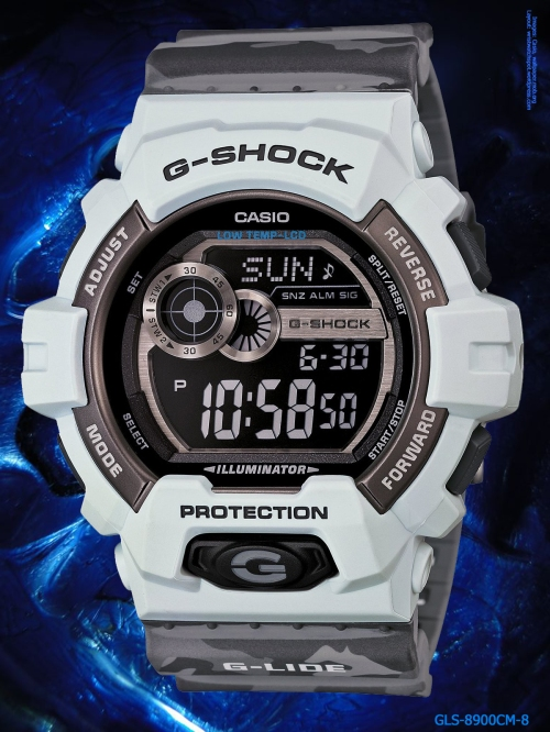 g-shock_gls-8900cm-8 g-lide watch 2014 white gray digital