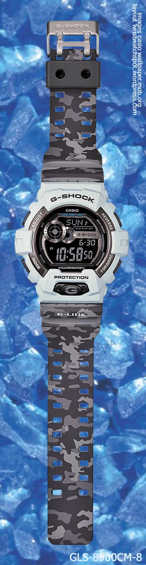g-shock_gls-8900cm-8_front g-lide watch 2014 camouflage