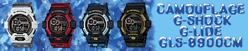 g-shock_gls-8900cm sports watches blue red gray camouflage