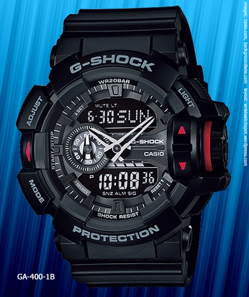 GA-400-1B_g-shock_2014 black watch rotary switch new model