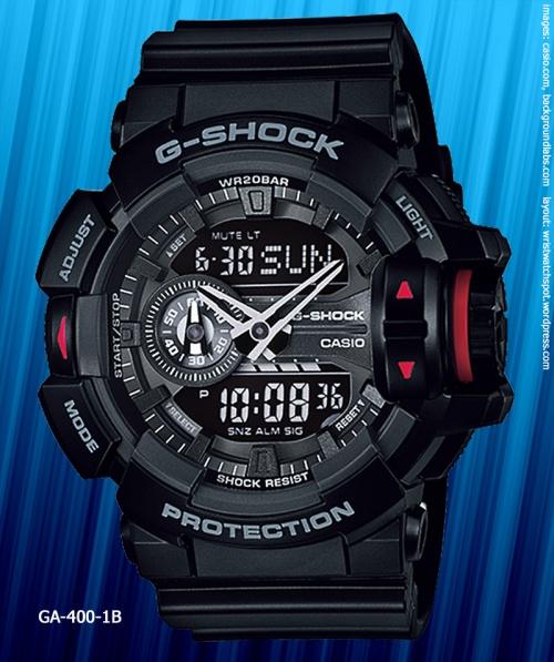 GA-400-1B_g-shock_2014 black watch rotary switch new model