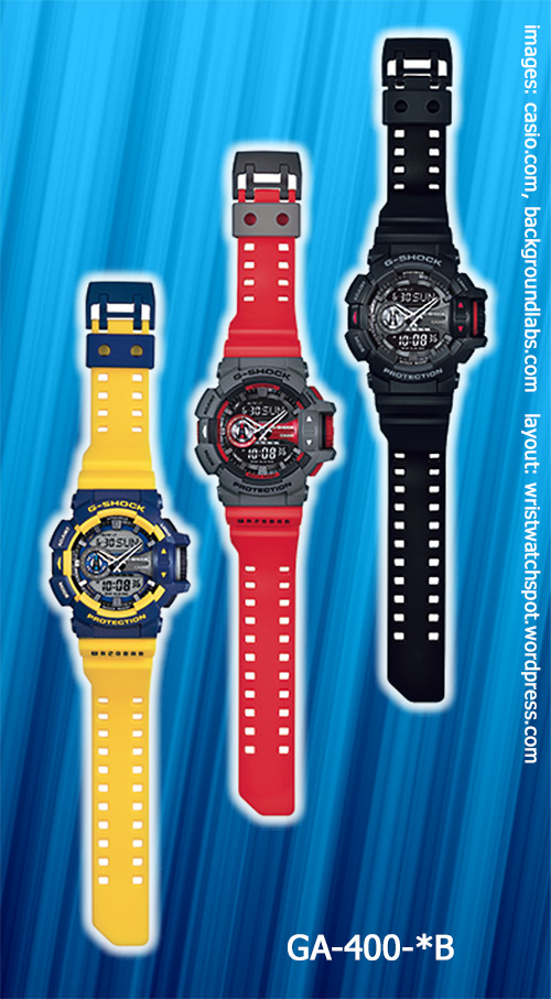 GA-400--B_g-shock_2014 red blue yellow watches analog digital quartz