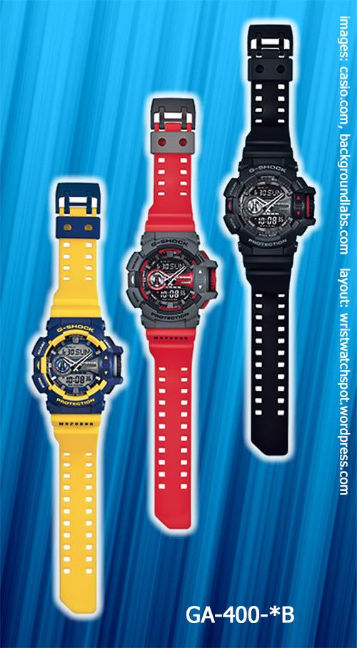 GA-400--B_g-shock_2014 red blue yellow watches analog digital quartz