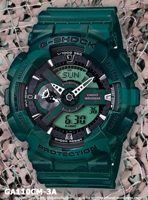 ga110cm-3a_g-shock_2014 green watch camouflage series