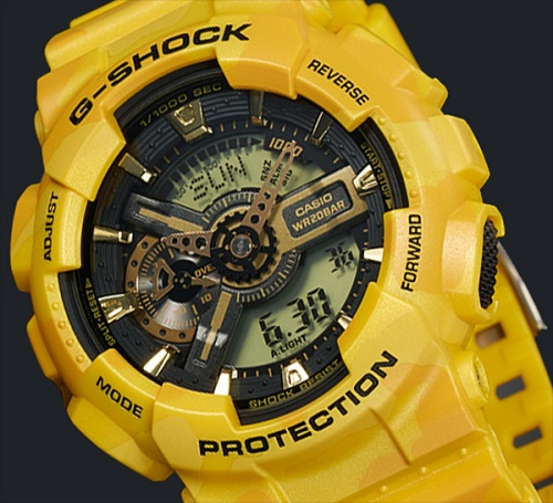 ga110cm-9a_g-shock_close-up yellow watch
