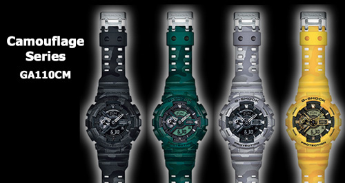 ga110cm_camo_g-shock watch black yellow green gray camouflage series