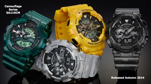 ga110cm_g-shock_camouflage watch black gray green yellow 2014