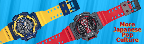 ga400 g-shock watch pop culture rotary switch yellow red watch