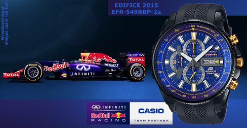edifice_EFR-549RBP-2A, wrist watch red bull x, racing team