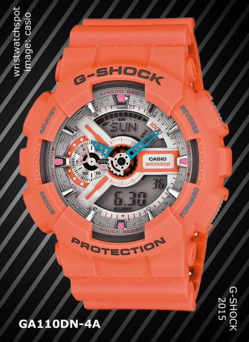 ga110dn-4a_g-shock.2015, watch,dusty neon
