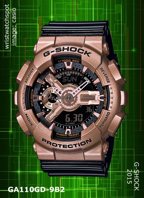 2015 wrist watch, ga110gd-9b2_g-shock