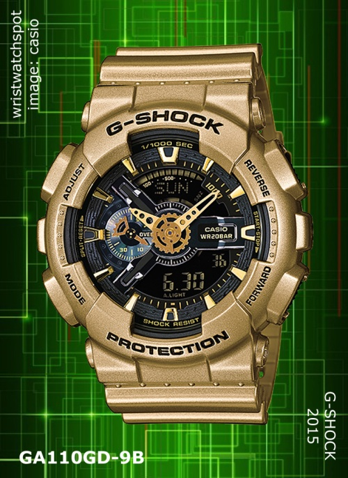 ga110gd-9b_g-shock, 2015, crazy gold,wrist watch