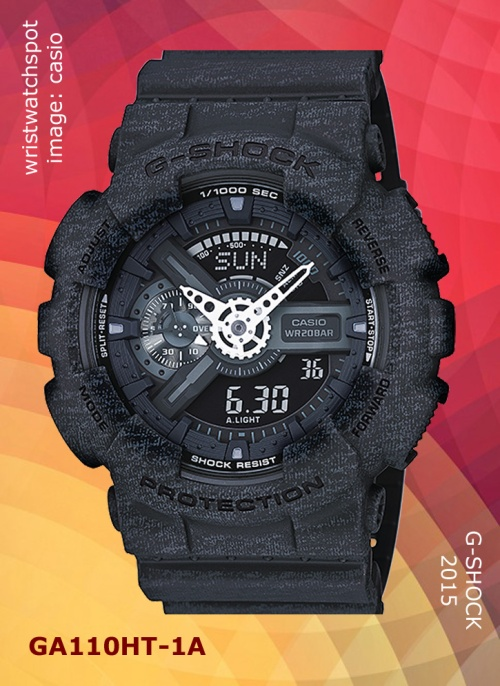 parker fabric, 2015, sweat, new wristwatch, ga110ht-1a_g-shock