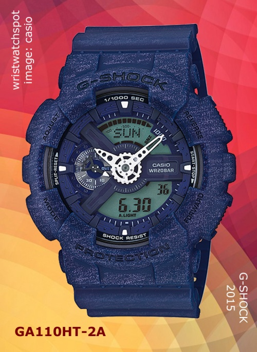 parker fabric, 2015, sweat, new wristwatch, ga110ht-2a_g-shock, blue