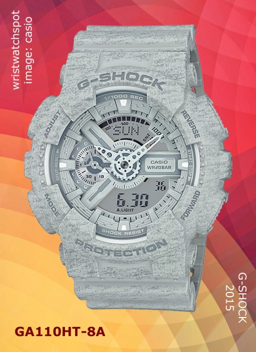 parker fabric, 2015, sweat, new wristwatch, ga110ht-8a_g-shock, grey gray