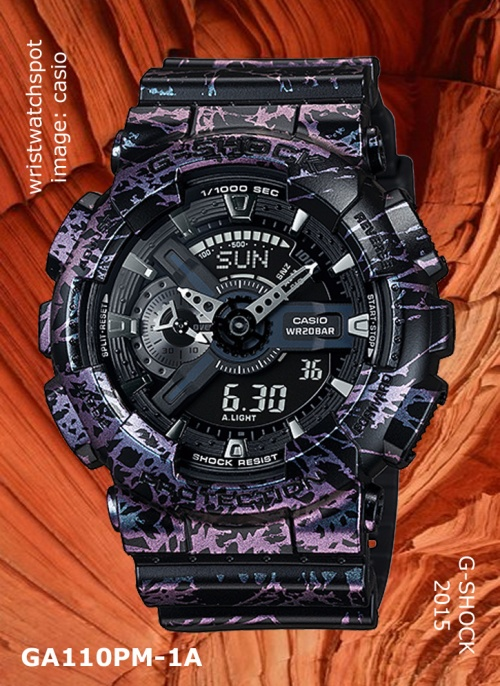 ga110pm-1a_g-shock, 2015, wrist watch, polarized marble