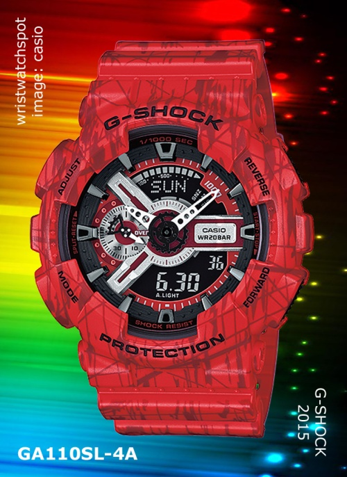 2015 g-shock watch, slash pattern, ga110sl-3a_g-shock, ga110sl-4a_g-shock