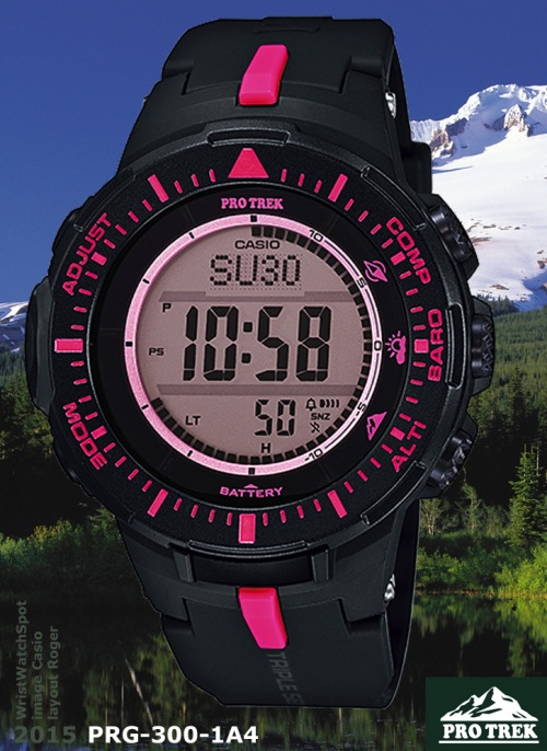 hot pink new pro trek PRG-300-1A4_protrek_2015