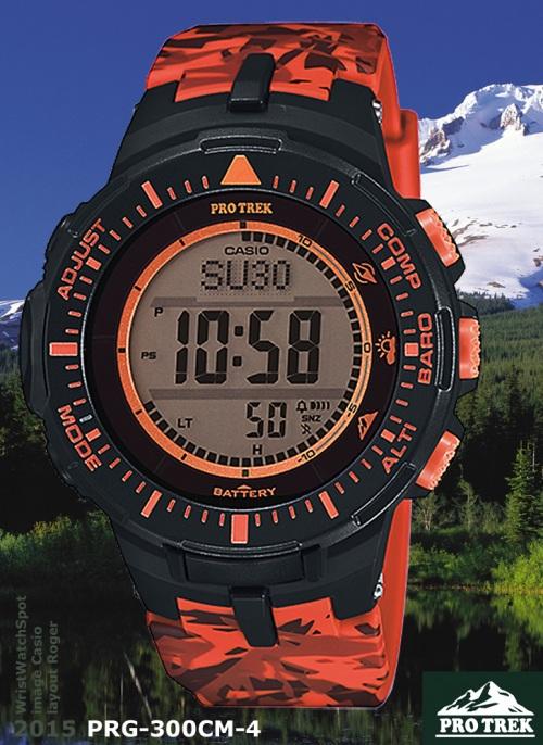 PRG-300CM-4_protrek_2015 new design pro trek orange camo camouflage sensor sport watch spot